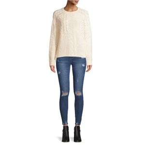 Cream Oversized Sweater Cable Knit Nwt Wov…